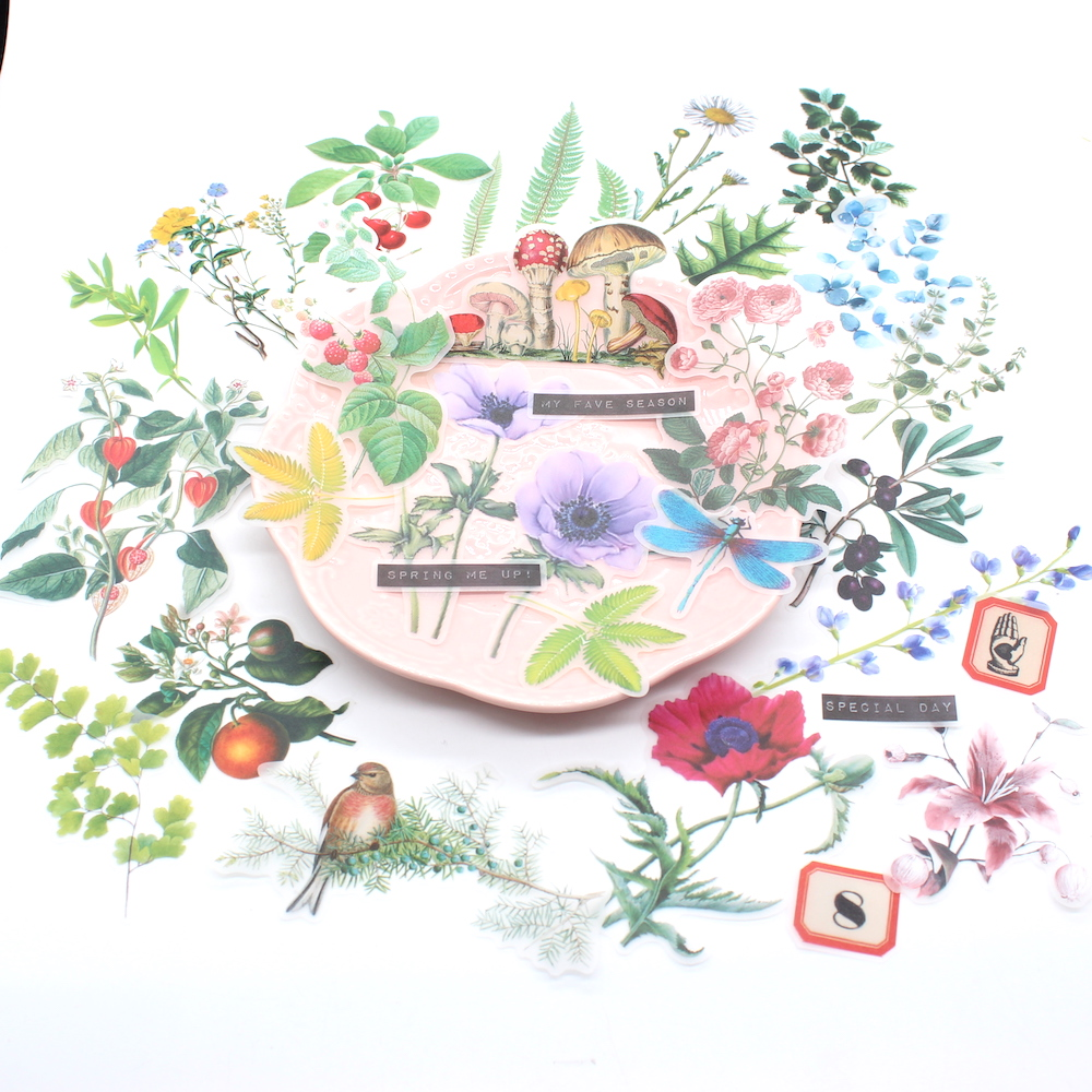 KSCRAFT Beautiful Plants Vellum Paper Stickers For Scrapbooking DIY Projects Junk Journal Planner Card Making Crafts
