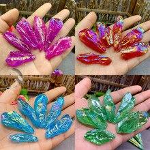 100g Electroplating crystal  original stone natural ore specimen ornaments pendant diy