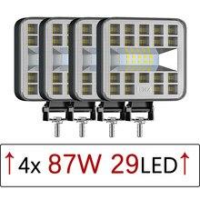 Araba LED çalışma lambaları Offroad çalışma ışığı far için modifiye farlar Offroad mühendislik spot ATV UTV kamyon montaj lambası otomatik mal