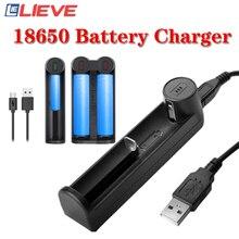18650 Battery Charger Smart Charging 1/2 Slot USB 26650 18350 32650 21700 26700 Li-Ion