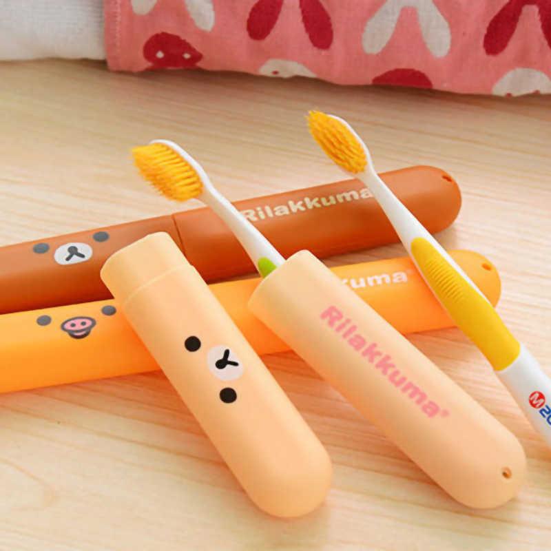 Accesorios de viaje oso cepillo de dientes cubierta de tubo tapa de plástico maleta soporte de equipaje embalaje organizador portátil