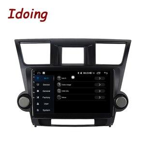 "Image 2 - Idoing 10.2 ""4G + 64G araba radyo multimedya Android oyuncu navigasyon gps Toyota Highlander için 2 XU40 2007 2014 NO 2 din DVD"