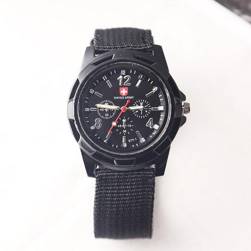 Fashion Swiss Watch Nylon Braided Band Military Watch Gemius Watch Casual Wrist Watch Sport Watch For Men