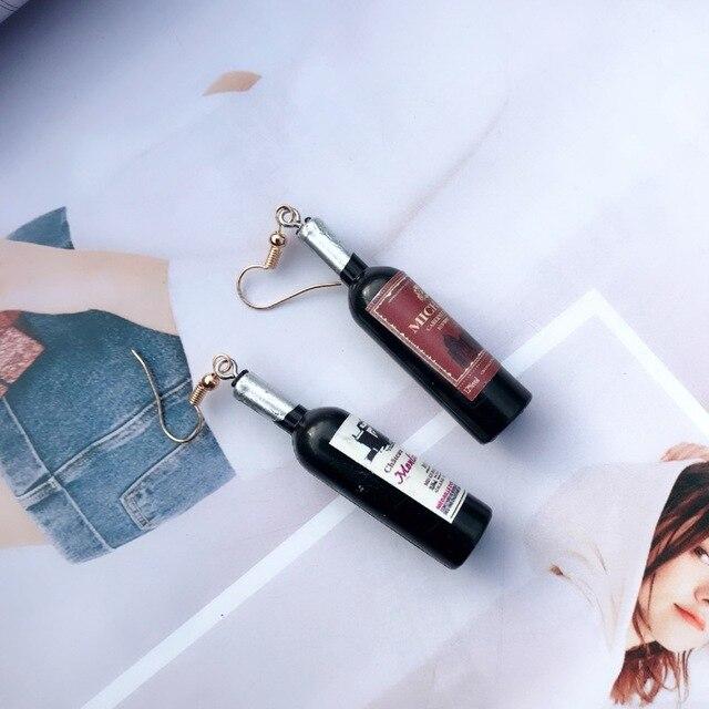 New Women s Fashion Handmade Resin Wine Bottle Dangle Earring Personality Party Earring.jpg 640x640 - New Women's Fashion Handmade Resin Wine Bottle Dangle Earring Personality Party Earring