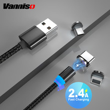 Vanniso Fast Charging 1m 2m Magnetic Cable Micro USB For iPhone X Samsung Xiaomi note 8 Type C Magnet Charger Cord