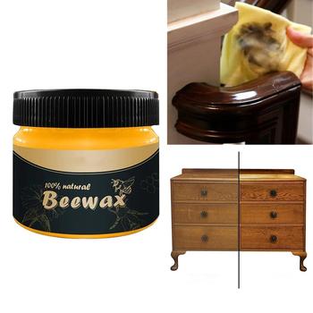 Domowe meble drewniane czyszczenie ochrona wosk pszczeli krem pielęgnacja wosk pszczeli powierzchnia drewna rozjaśnić meble stołowe gąbka czyszcząca tanie i dobre opinie CN (pochodzenie) 1 pc 80 ml Beeswax