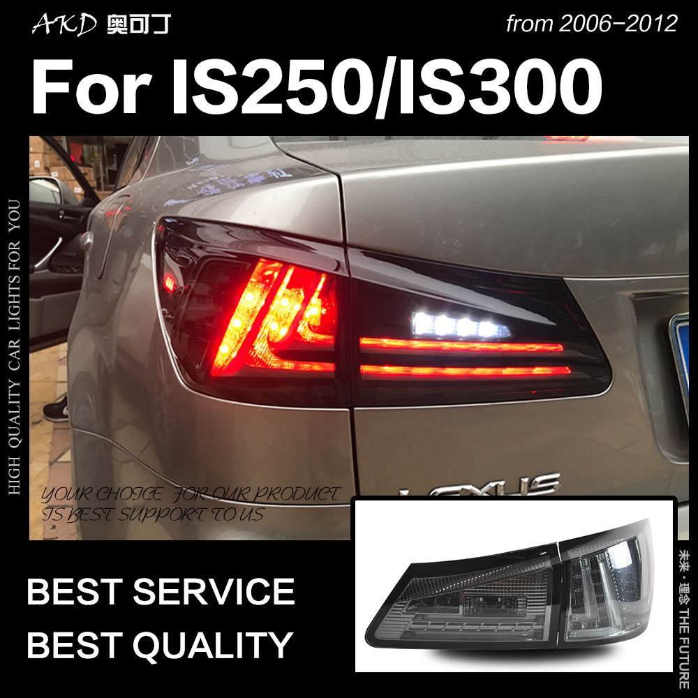 Car Styling <font><b>Tail</b></font> Lamp for <font><b>Lexus</b></font> <font><b>IS250</b></font> <font><b>Tail</b></font> <font><b>Lights</b></font> 2006-2012 IS300 LED <font><b>Tail</b></font> <font><b>Light</b></font> new design DRL Brake Reverse auto Accessories image