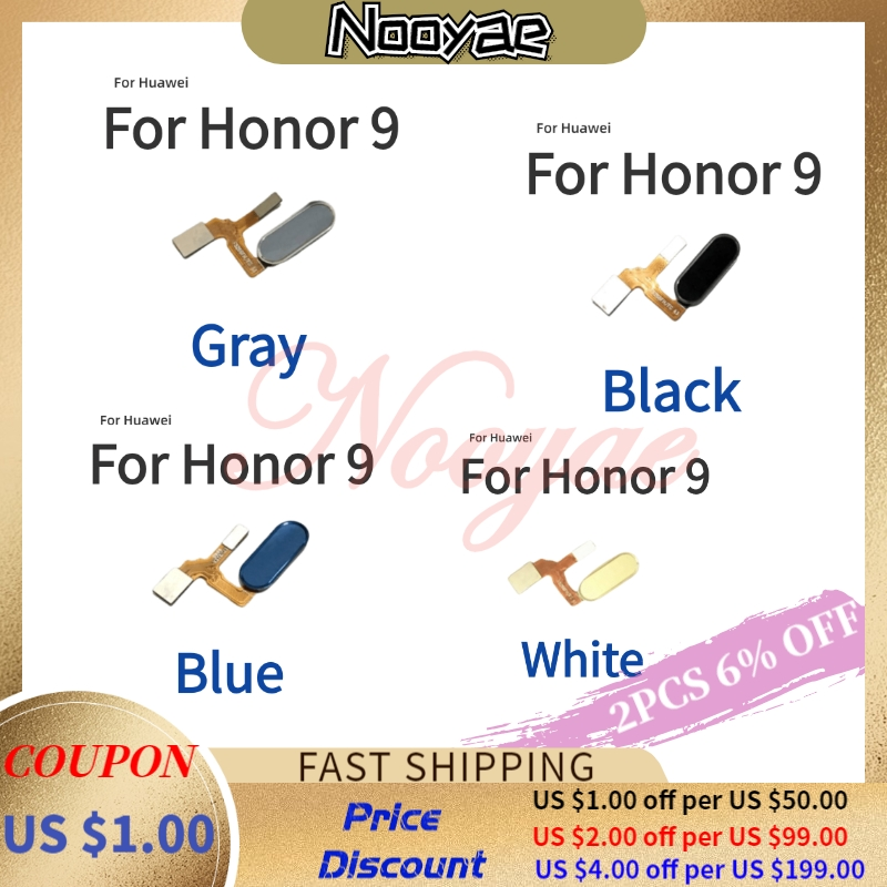 For Huawei Honor 9 Honor9 Fingerprint Flex Cable Home Button Unlock Finger Key Sensor Connect Ribbon