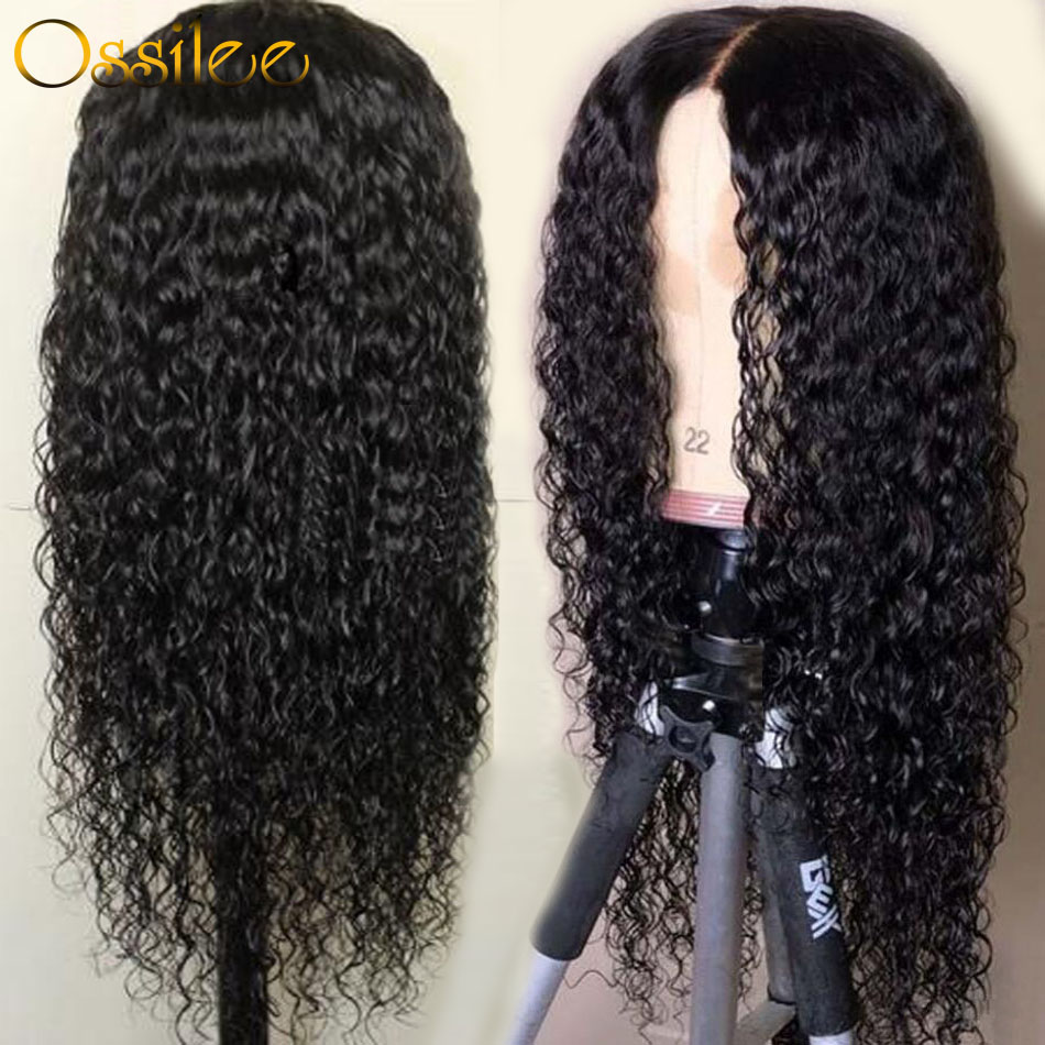 Wig Human-Hair Deep-Wave Full-Lace Peruvian with Pre-Plucked