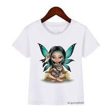 Новая летняя стильная футболка для девочек интересные топы с