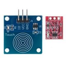 Сенсорный модуль переключателя TTP223, 100 шт., сенсорная кнопка, самоблокирующиеся/без блокировки, емкостные переключатели, одноканальная реконструкция