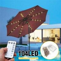 Paraguas de Patio con batería 104 LED Fairy vacaciones Cadena de luz con interruptor de botón de 8 modos