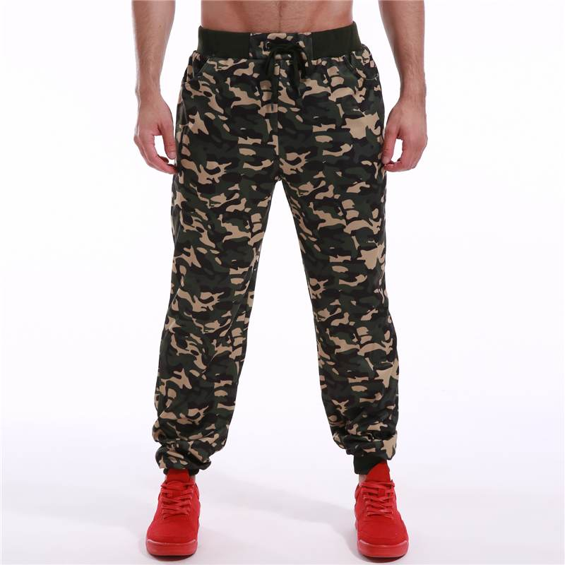 Camouflage Printed Men Sweatpants Joggers 2019 Loose Bodybuilding Trousers Men Drawstring Streetwear Workout Camo Casual Pants