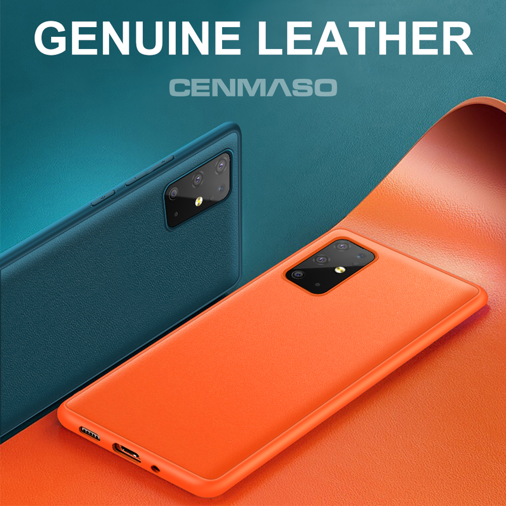 Original Genuine Leather Back Cover Silicone Case for Samsung Galaxy S20 S10 S9 S8 Note 9 10 Plus S10e S20 Ultra Phone Case(China)