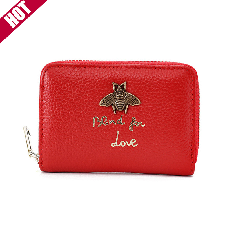 New Designer Women Purse Fashion Brand Leather Wallet Multi Card slot Card Package Credit Card Holder Mini Purse For Women