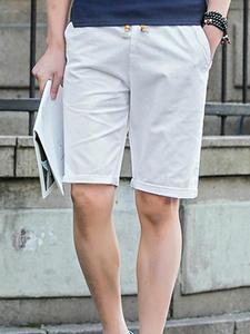 Covrlge Men's Shorts Summer Casual Knee-Length Beach New Black Solid MKD032