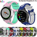 Uhr Band 18mm 22MM Für Garmin Vivoactive 4 4S smartwatch silikon Armband Ersatz Armband Für Garmin Aktive S/Bewegen 3S