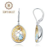 Женские серьги подвески gem's ballet серебро 925 пробы 18