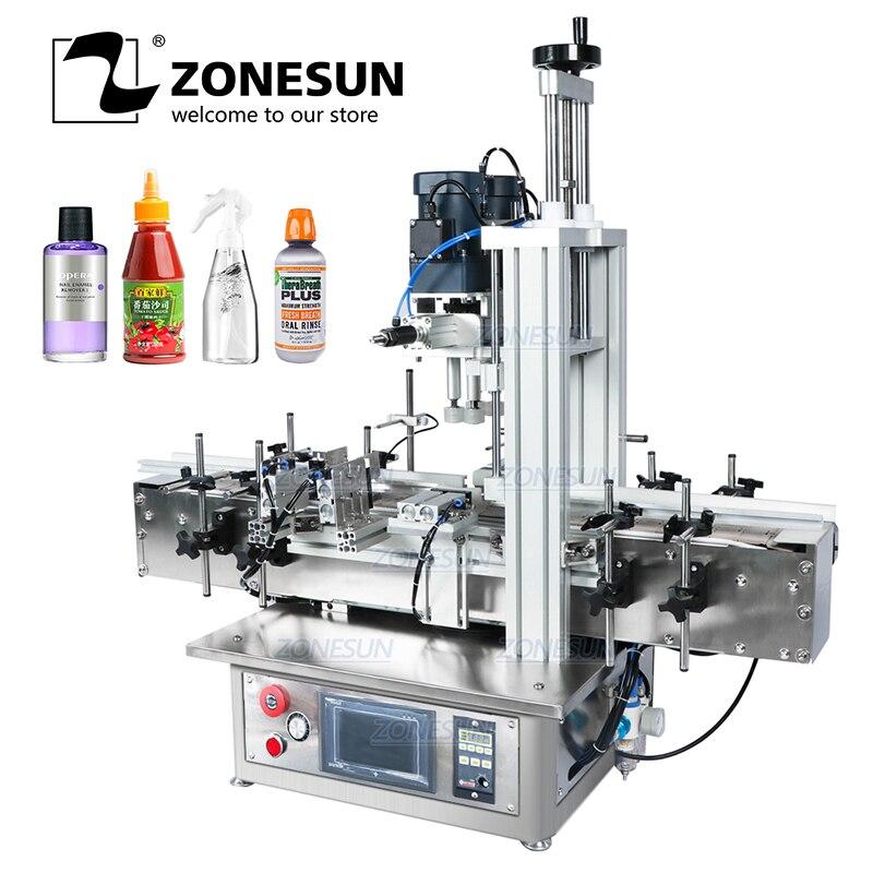 ZONESUN Pneumatic Vial Desktop Screw Automatic Capping Machines hypochlorous acid water bottle Glass Perfume Pet Plastic Bottle Vacuum Food Sealers  - AliExpress