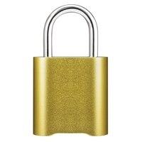 Smart Fingerprint Bluetooth Wiederaufladbare Keyless Vorhängeschloss Entsperren Wasserdicht Home Security App IOS Geteilt Türschloss|Elektroschloss|   -
