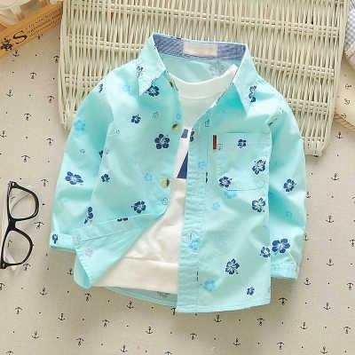 男の赤ちゃんシャツ0-10y 2020春長袖純粋な綿の子供服因果漫画の幼児ファッションキッズ着用