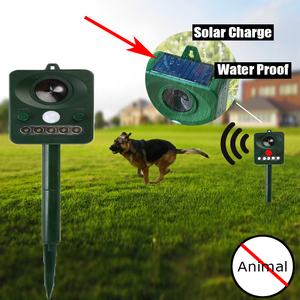 Alimentado por energía Solar ultrasónico de plagas animales repelente impermeable Aire Libre infrarrojos Sensor infrarrojo Detector de Control de roedores de jardín