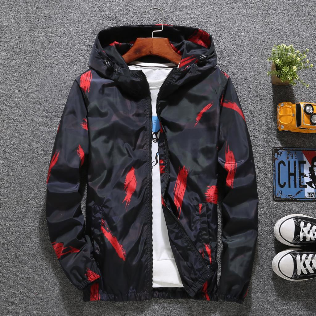 Windbreaker Jacket Men Autumn Fashion Jacket Men Hooded Casual Jackets Male Jacket Coat Men Thin Coat Outwear