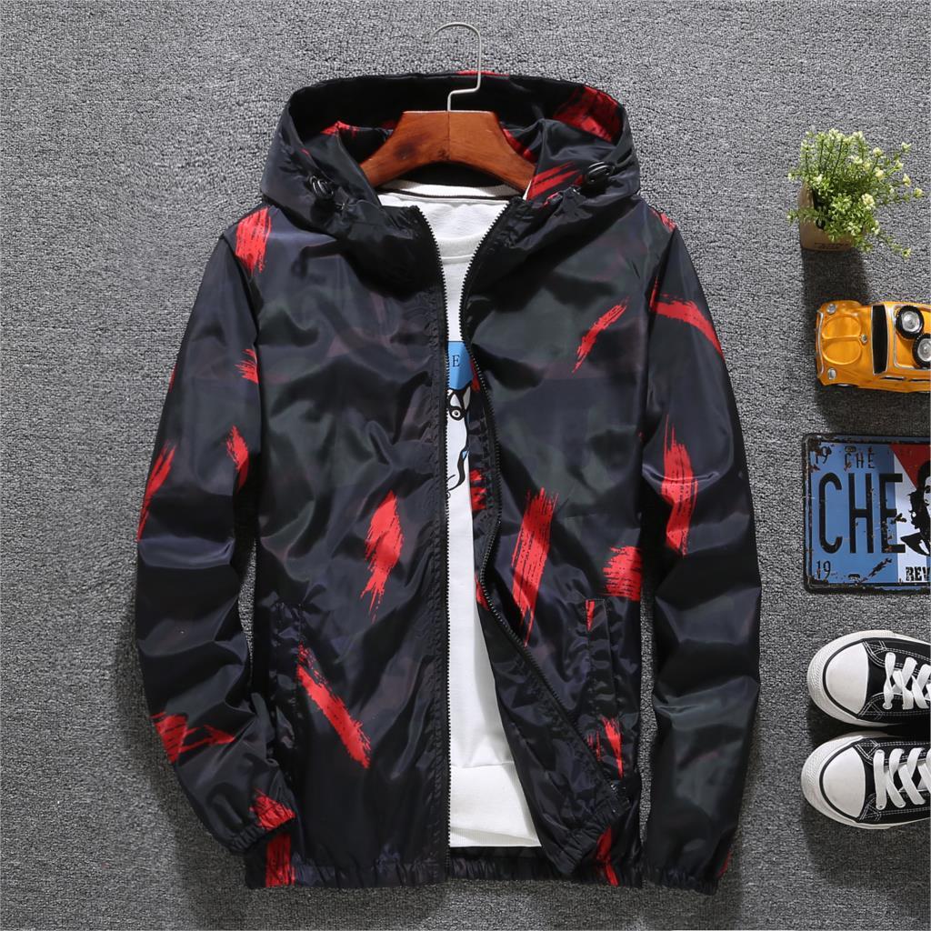 Windbreaker Jacket Men Autumn Fashion Jacket Men Hooded Casual Jackets Male Jacket Coat Men Thin Coat Outwear