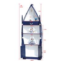 Armários mediterrâneo sala de estar decorações ornamentos marinhos vento barcos armários de armazenamento mobiliário doméstico ornamentos artesanato