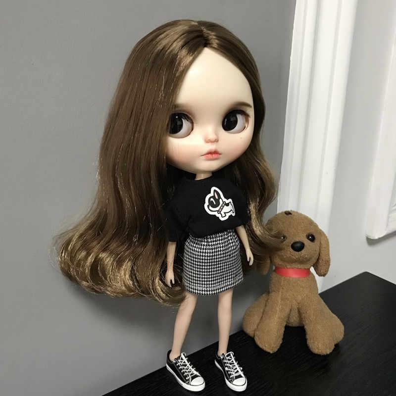 Blyth boneca Conjunto de Roupas DS Saia com a T-Shirt para o corpo legal vestir NEO Boneca BJD
