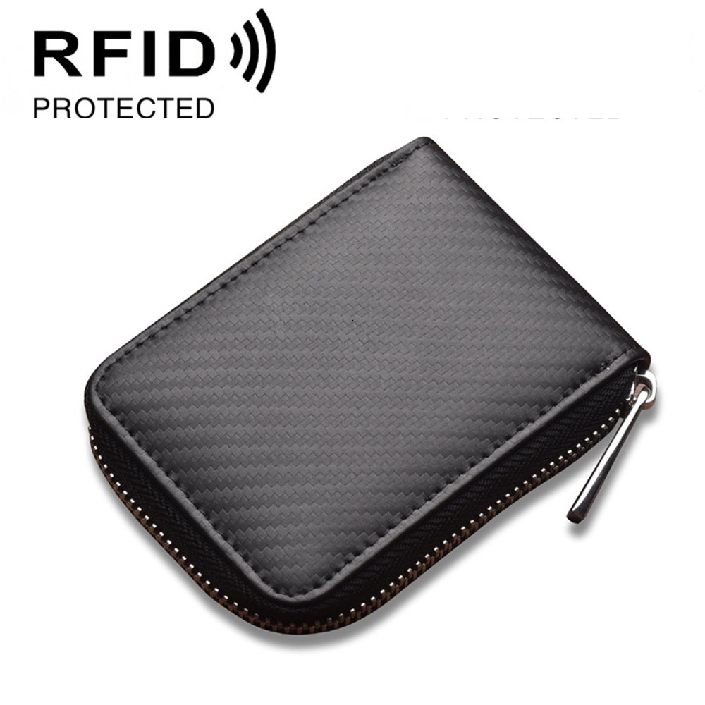 Antimagnetic Doka Position Will Big Capacity Card Package Carbon Fibre Organ Card Package Rfid Protector Small Change Wallet