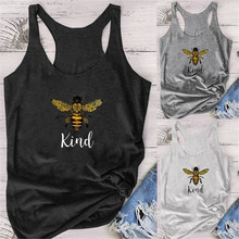 Kind Letter Print Women Tank Tops Colorful Kind Graphic