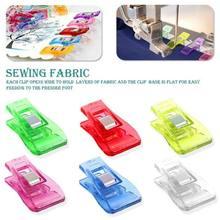 Braçadeiras multicoloridas de plástico, braçadeiras para costura, grampo de retalho, ferramentas de costura, acessórios de 100 de 2020 peças