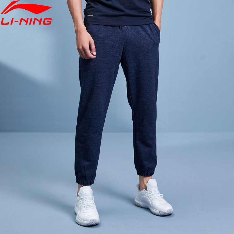 Li-Ning Men Wade Pants Regular Fit 72% Cotton 28% Polyester LiNing Li Ning Comfort Sweat Pants Sports Trousers AKLP437 MKY529