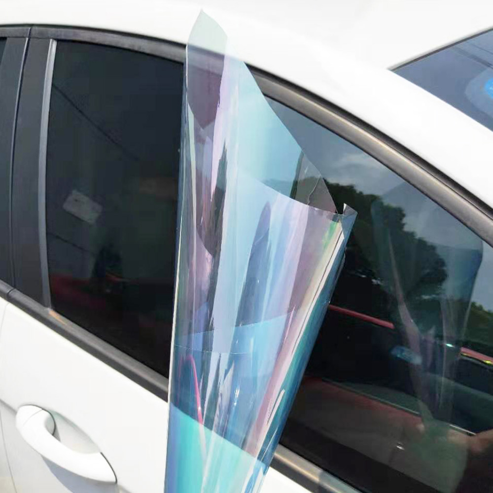 Width:50cm VLT65% UV Rejection 99% Chameleon Window Tint High Quality Decoration Chameleon Solar Tint Car Window Tint