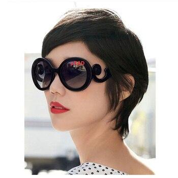 Женские винтажные солнечные очки в круглой оправе