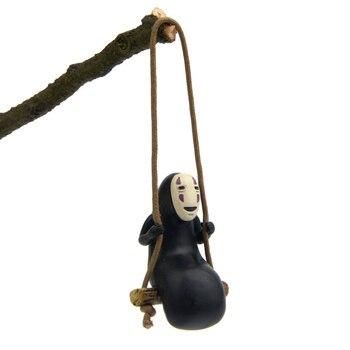 1 шт. студия Ghibli Унесенные спирали без лица мужские Фигурки игрушки сделай сам украшение Миядзаки Хаяо качели без лица человек фигурку модель