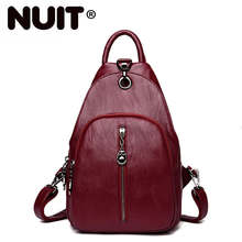 Women Vintage Leather Backpacks For Girls Sac A Dos Female Multifunction Backpack High Quality Ladies Bagpack Mochilas New