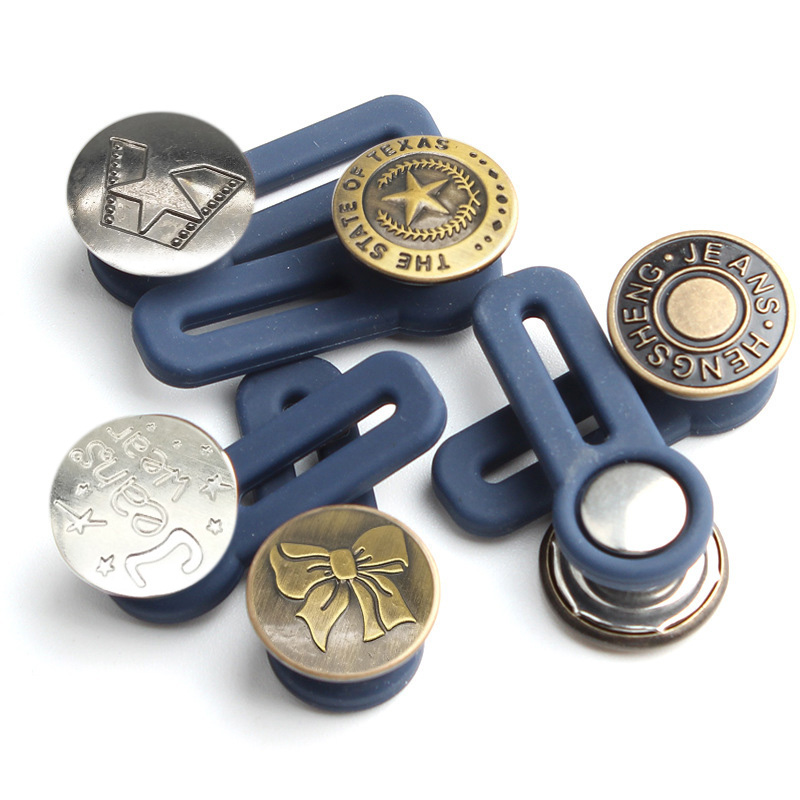 Регулируемая разборка, выдвижная пуговица для джинсов, пуговицы для удлинения талии, металлические пуговицы с надписью, бесплатные швейные...
