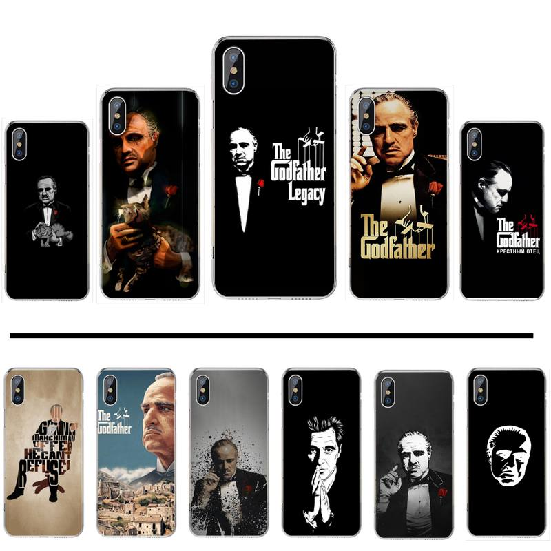 Colorful Godfather Marlon Brando Phone Case For iphone 12 5 5s 5c se 6 6s 7 8 plus x xs xr 11 pro max