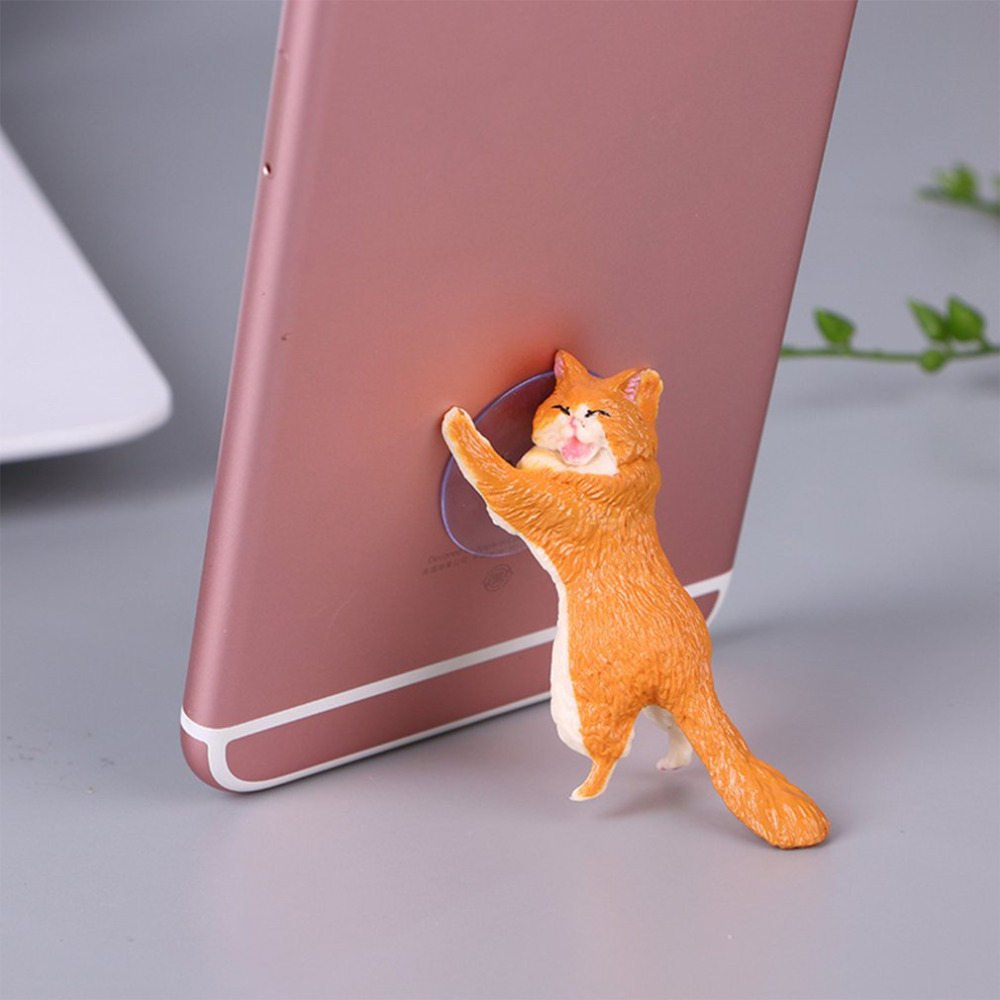 Universal Mobile phone Stand Holder Cute Cat Support Resin Smartphone stand Stand Sucker Tablets Desk Sucker Design