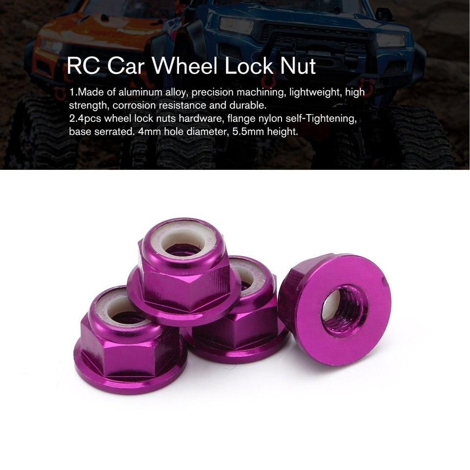 Lorenlli RC Car Wheel Lock Nut Aluminum Alloy Car Sets//Kit Wheel Hardware for RC Hobby Model Car 1//10 for Axial for SCX10 Crawler