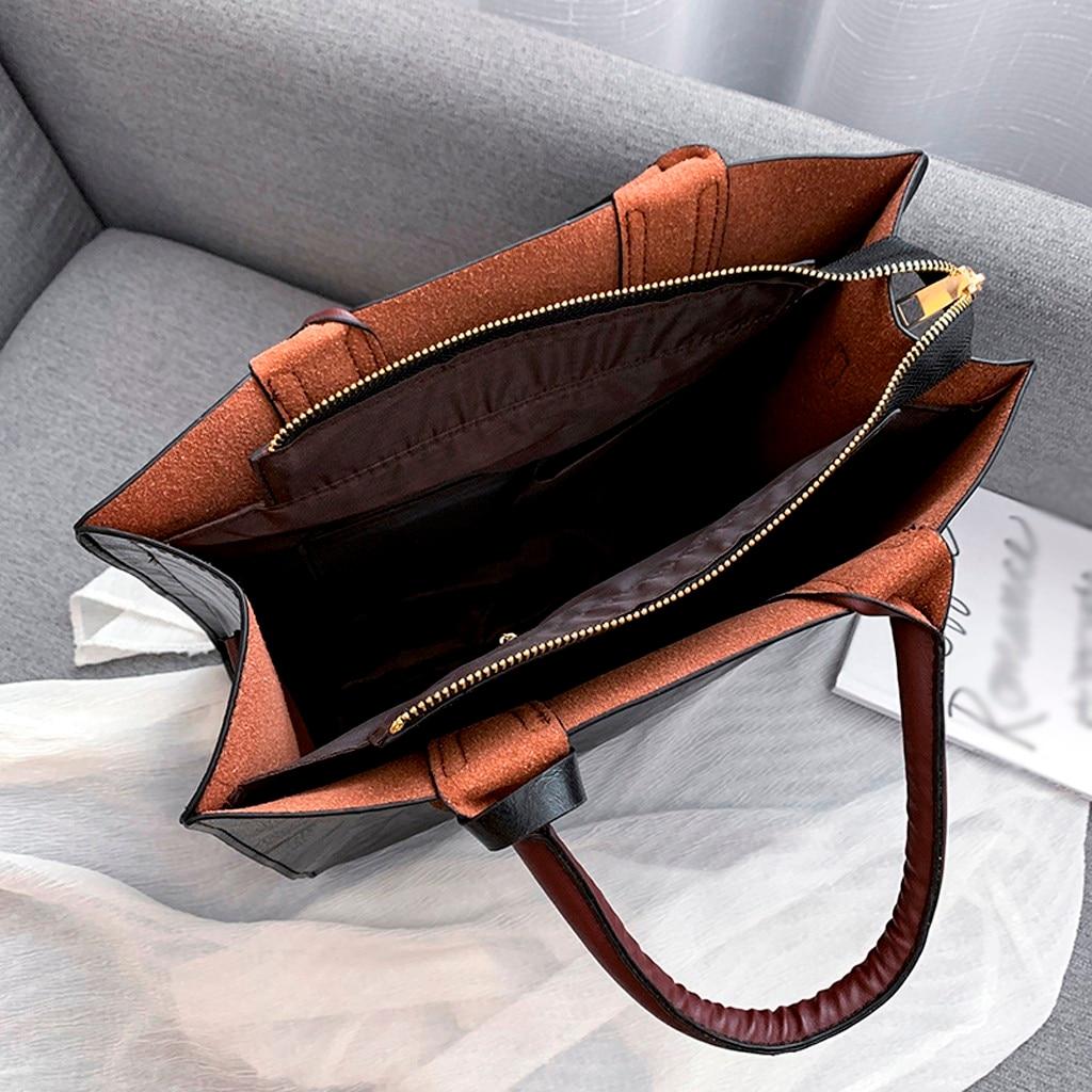 Ensemble sacs 3 pièces mode en cuir PU dames sac à main 90