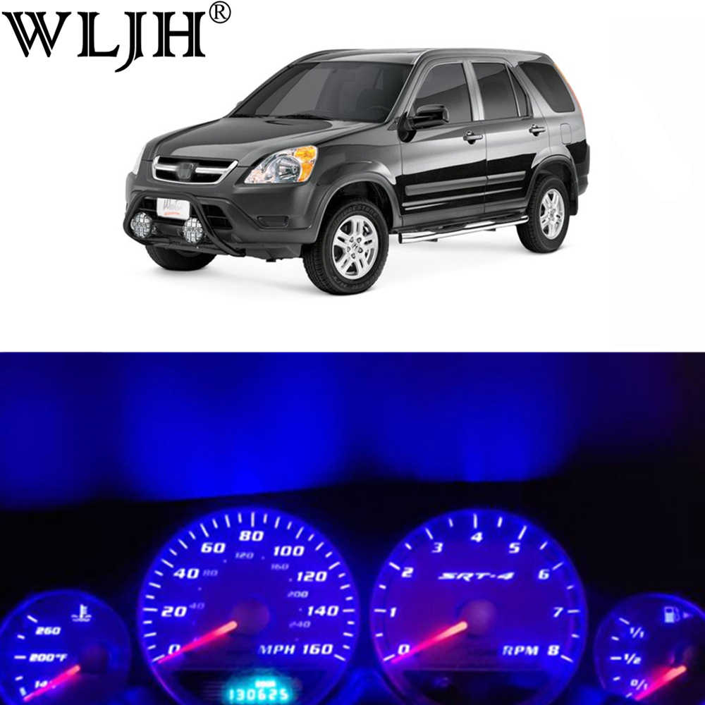Wljh Super Bright 12V Panel Instrumen Cluster Gauge Speedometer Tachometer Penuh Lampu LED Bulb Kit For1996-2006 Honda CRV CR-V