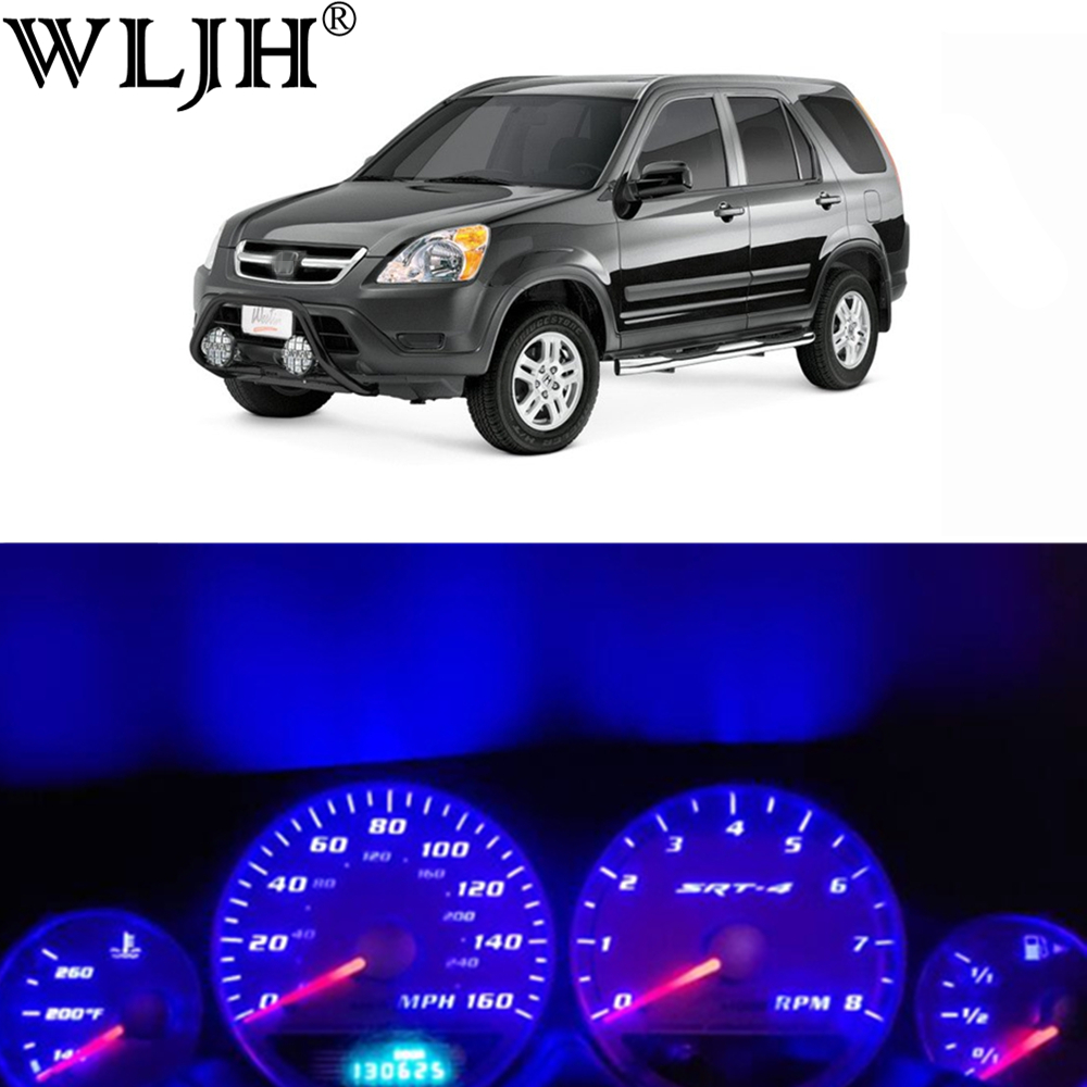 WLJH Super Bright 12V Instrument Panel Cluster Gauge Speedometer Tachometer Full LED Light Bulb Kit for1996-2006 Honda CRV CR-V