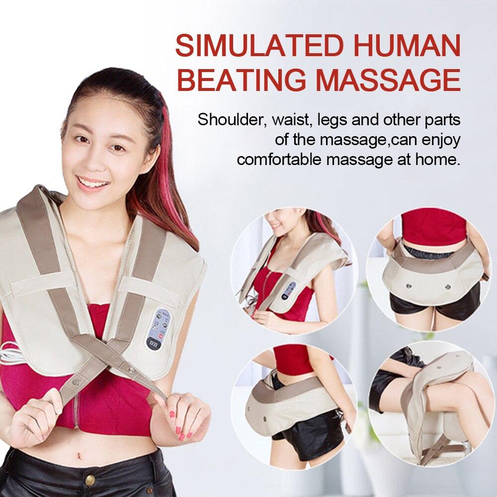 U Shape Neck Shoulder Massager 99 Modes Massager for Back Waist Leg Infrared 3D Kneading Shiatsu Electric Massage Home Car Use