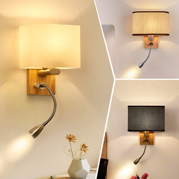 Modern led wall lamp living room study bedroom bedside reading lamp reading simple wall lamp