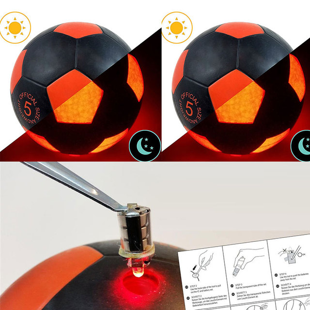 Cool Size 5 Football Light Up LED Soccer Training Ball Super Bright LED Glow Balls Standard