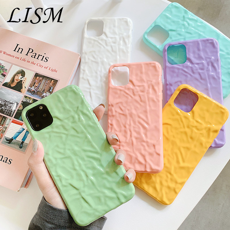Soft Cell Phone Case for iphone8case Cute silicone for iphone 11Pro X XR XS Max  7 6 cover with personality surface