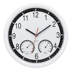 Kwarc zegar cichy  ścienny zegar dokładny termometr wilgotności wewnątrz na zewnątrz basen Patio